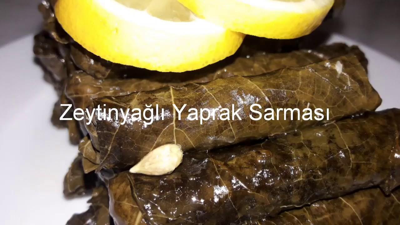 Zeytinyağlı yaprak sarması, taze üzüm yaprağından / çok kolay tarifler