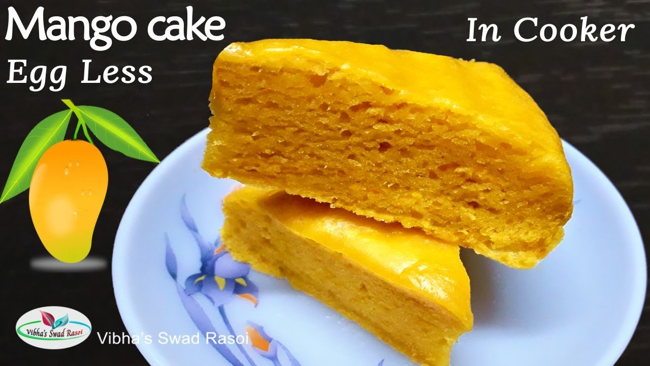 घर की चीजों से बना आम का केक| How To Make Eggless Mango Cake Recipe Step By Step Everything Answered