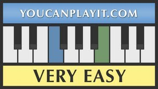 Jingle Bells - Very Easy Piano Tutorial