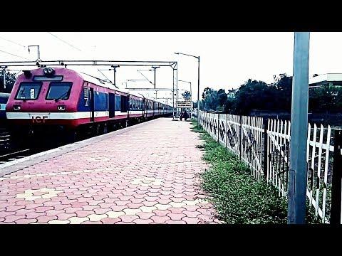 Dr Ambedkar Nagar - Indore DEMU arrives Rajendra Nagar.