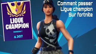 HOW PASSER LEAGUE CHAMPION ON FORTNITE BATTLE ROYALE (end of zone, top1...)