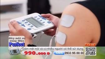 Máy massage xung điện Perfect USA 12 miếng điện cực giúp chữa trị nhiều bộ phận một lúc - HSV.Review