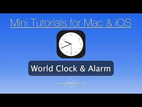 iPhone + iPad Tutorial - How to use the World Clock and Alarm in the iOS Clock App!