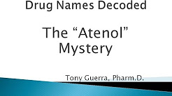 How to Pronounce Atenolol: The Atenol Mystery (Memorizing Pharmacology Extended Explanation)