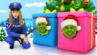 Download Sasha bakes Gingerbread Houses and gets Grinch Presents on Christmas Mp3 and Videos