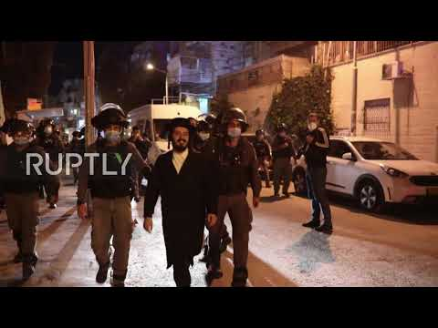 Israel: Police Use Water Cannons To Disperse Ultra-Orthodox Protesters Defying COVID Measures