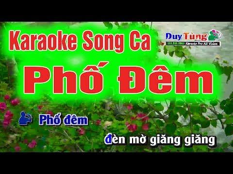 Karaoke || Phố Đêm Song Ca || Nhạc Sống Duy Tùng