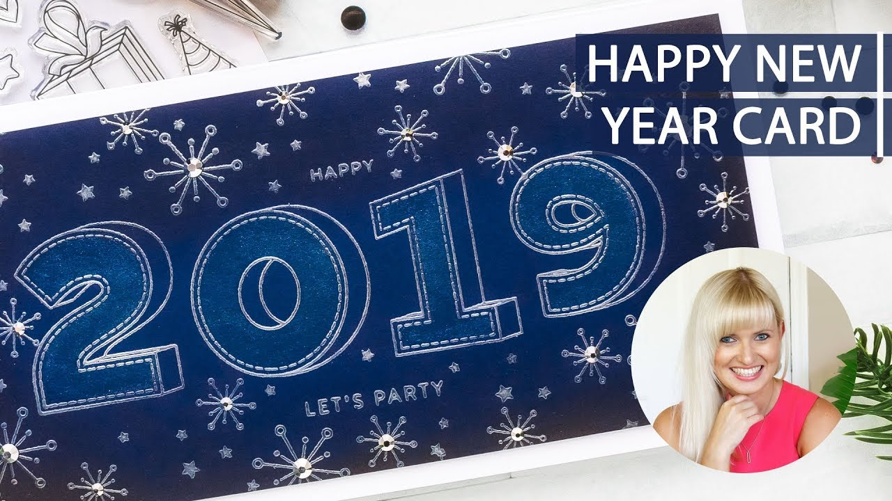 diy happy new year card