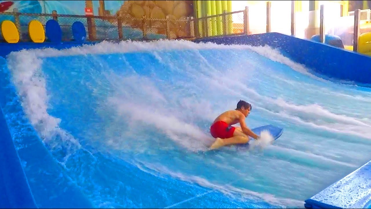 Indoor Water Surfing At Sahara Sam S Oasis Water Park