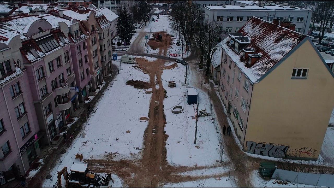 Przebudowa ulicy Partyzantów – styczeń 2018 r.