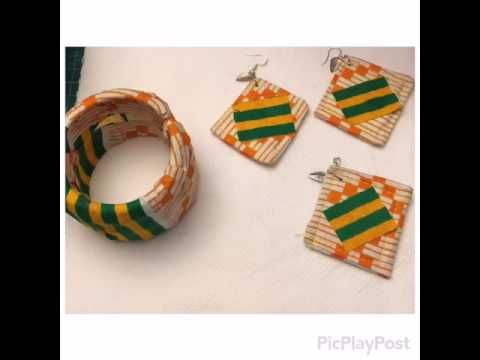 Anita Ayaeze African fabric  design jewellery