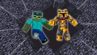 Minecraft EXPLOSIVES IN THE VOID / WE FALL INSIDE THE VOID TO SURVIVE!! Minecraft Mods