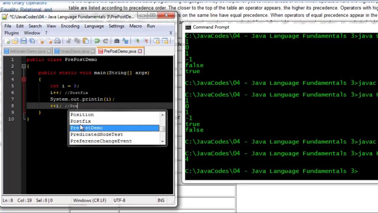 Java Prefix and Postfix Incremetors - YouTube