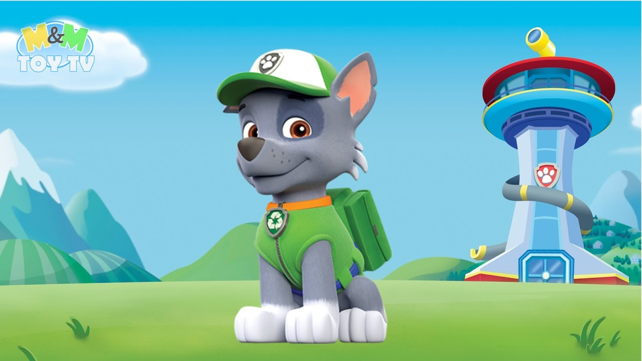 Coloring - Paw Patrol - Rocky - Male Mixed Breed Eco Puppy - Recycling Dog ade6fe537