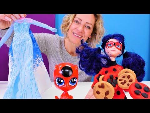 Puppenvideo für Kinder. Ladybug braucht ein Kleid für die Kostüm-Party