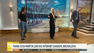 Skrattfest när Maria och Martin lär sig virala dansen Jerusalema - Nyhetsmorgon (TV4)