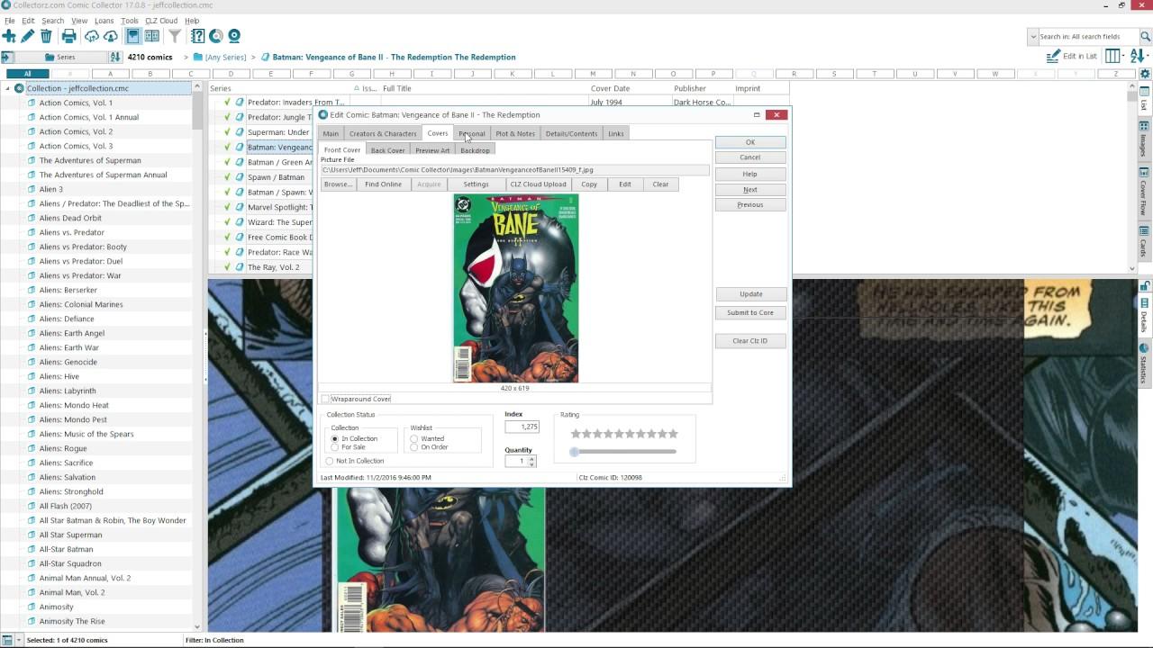 book collectorz software