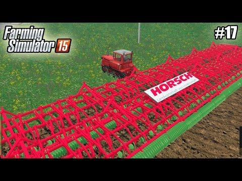 Farming Simulator 15 моды: КУЛЬТИВАТОР (50М) и ГУСЕНИЧНЫЙ ТРАКТОР ДТ-75М  (17 серия) (1080р)