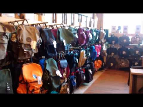 Visit to Duluth Pack Store, and Frost River Store In Duluth, MN