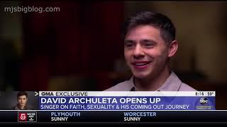 David Archuleta Talks Coming Out as LGBTQ on Good Morning America