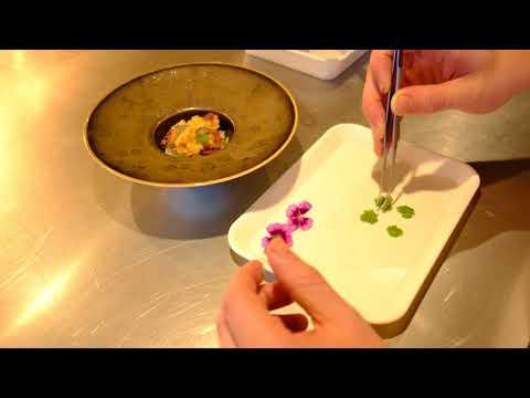 Northseacrab preparation in restaurant 212, new star in Amsterdam, filmed 4K