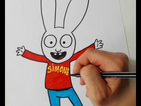 How to draw Simon the rabbit - YouTube