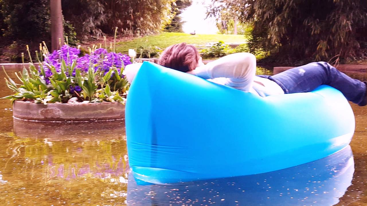 luft sitzsack air inflatable bag youtube. Black Bedroom Furniture Sets. Home Design Ideas