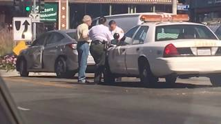 Police crash in Hollywood