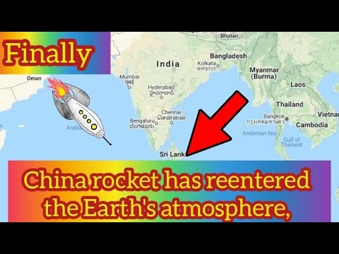 Long March 5B: China rocket debris likely plunged into the Indian ...