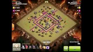 Never deploy hogs before taking care of clan castle troops (epic fail, bad attack) - clash of clans