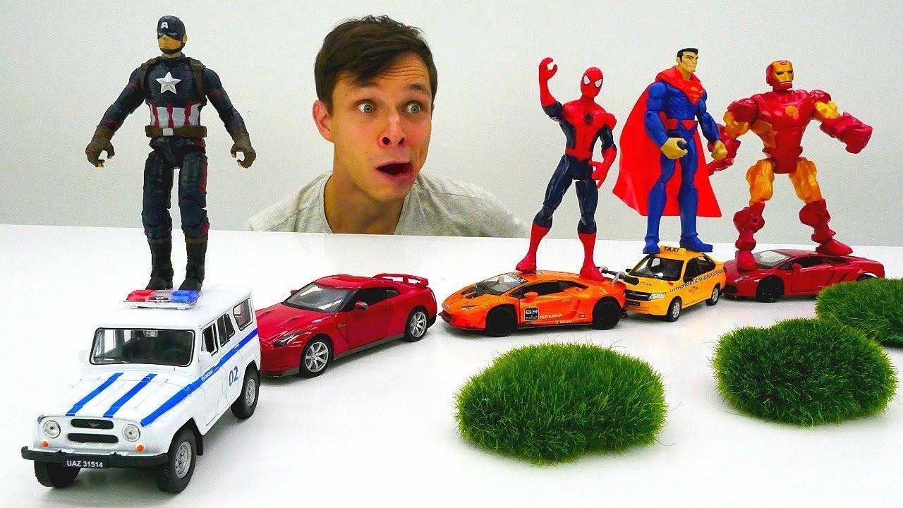 Мастерская Фёдора - Делаем автопоезд для Супергероев Марвел.