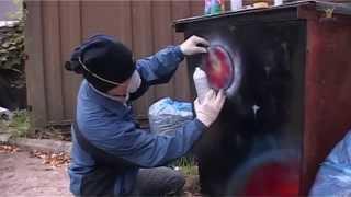 5 Пять минут - и ты художник! Рисуем баллончиком (1). Spray.(Не умеете рисовать баллончиком? Никогда не держали в руках? Не беда! Стоит только захотеть! Spray paint art - искусс..., 2012-10-26T06:05:54.000Z)