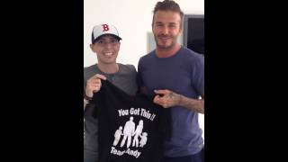 David Beckham made cancer stage 4 patient dreams come true.