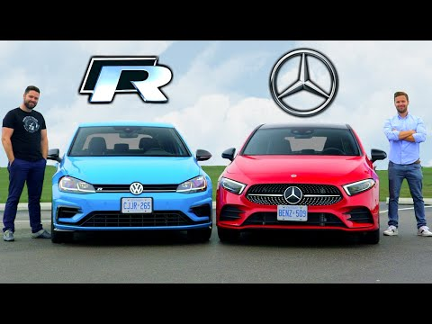 2019 VW Golf R vs Mercedes A-Class // Tech Fights Performance