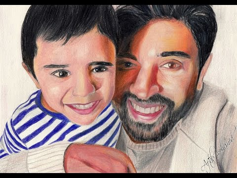 Drawing NIVIN PAULY and his SON!!!