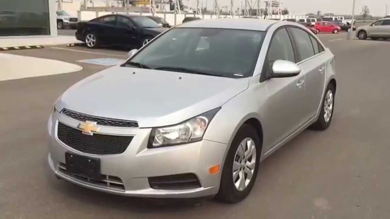 Grey 2014 Chevrolet Cruze Lt Compact Sedan With Only