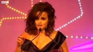 Helena Bonham Carter at BFI London Film Festival - Accepting Award