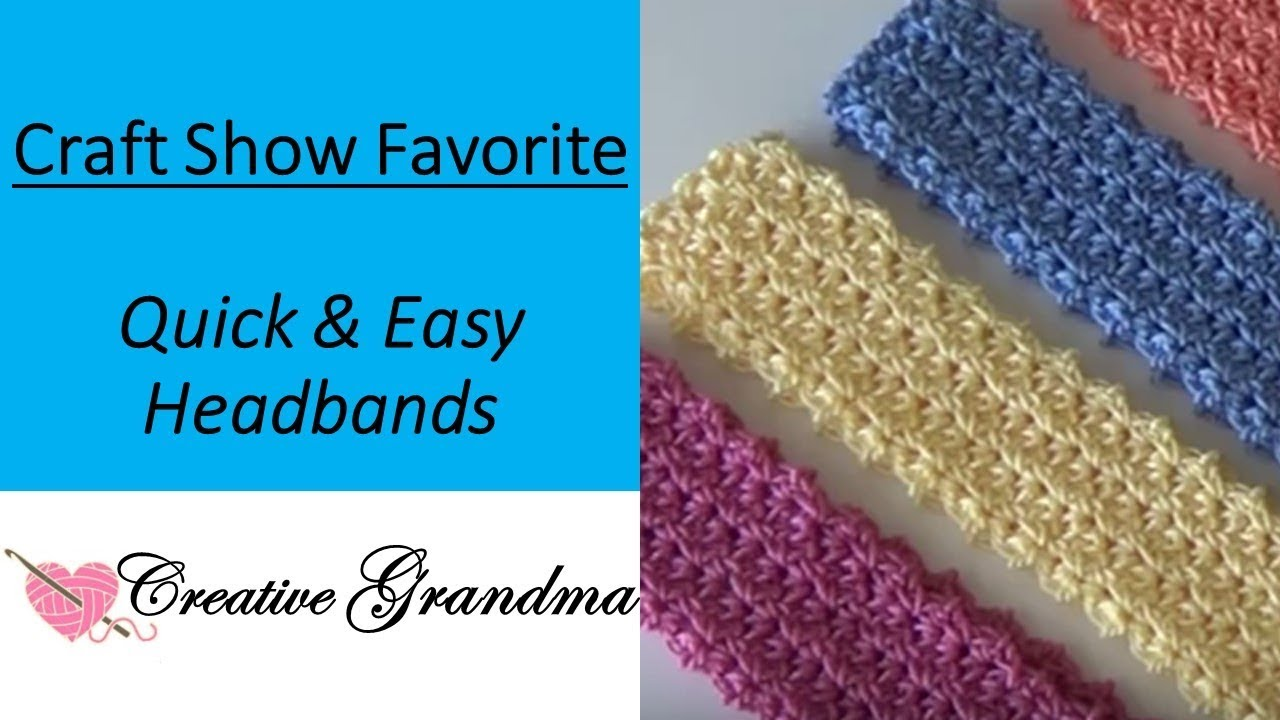 Quick and Easy Headband  121(FREE PATTERN) Craft Show Favorite - YouTube 9ffac642f50