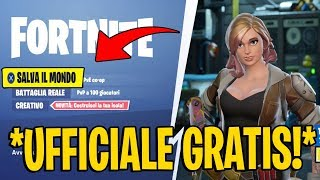 """OFFICIAL CONSnotITY"" FORTNITE SAVE THE FREE WORLD! PAS CLICKBAIT"