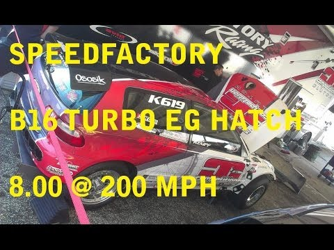 SDFACTORY 200 Mph Civic @ Honda Day Atco 2014 - YouTube