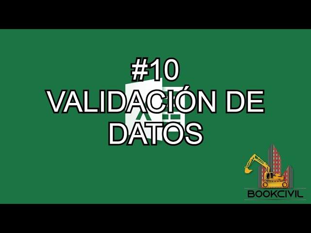Curso de Excel - #10 Validación de Datos