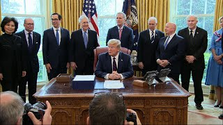 Trump signs $2.2 trillion stimulus package