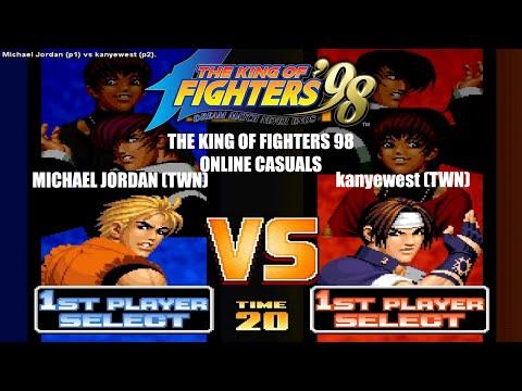 [HD] - Fightcade - KOF 98 Online match - Michael Jordan (Taiwan) vs. kanyewest (Taiwan)