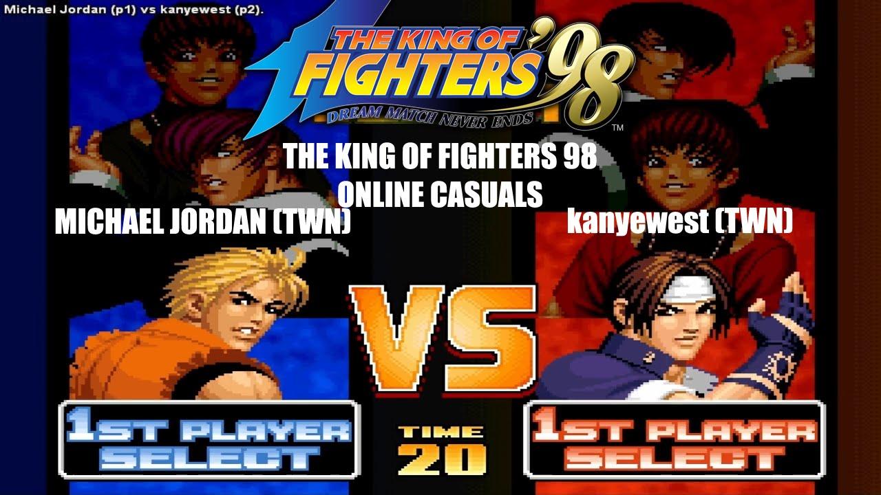 HD] - Fightcade - KOF 98 Online match - Michael Jordan