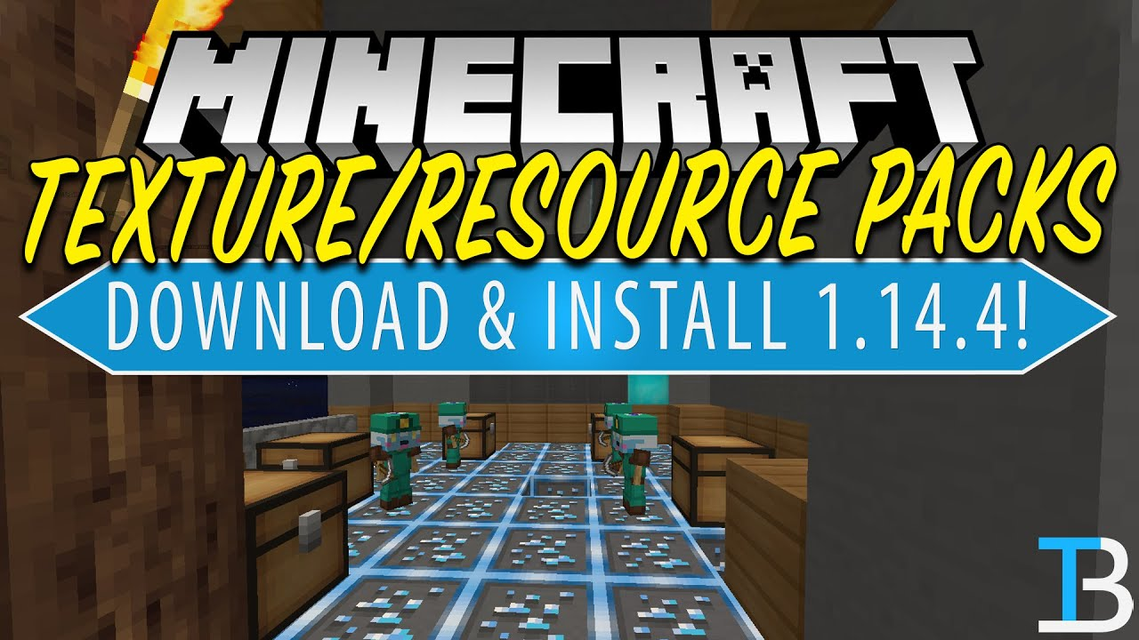 How To Download & Install Texture Packs in Minecraft 1 14 4 (Get 1 14 4  Resource Packs!)