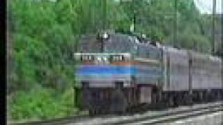 Amtrak electrics at Glenn Dale