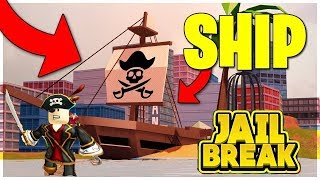 Roblox, Jailbreak, Raptor achievement, Ship in the lake