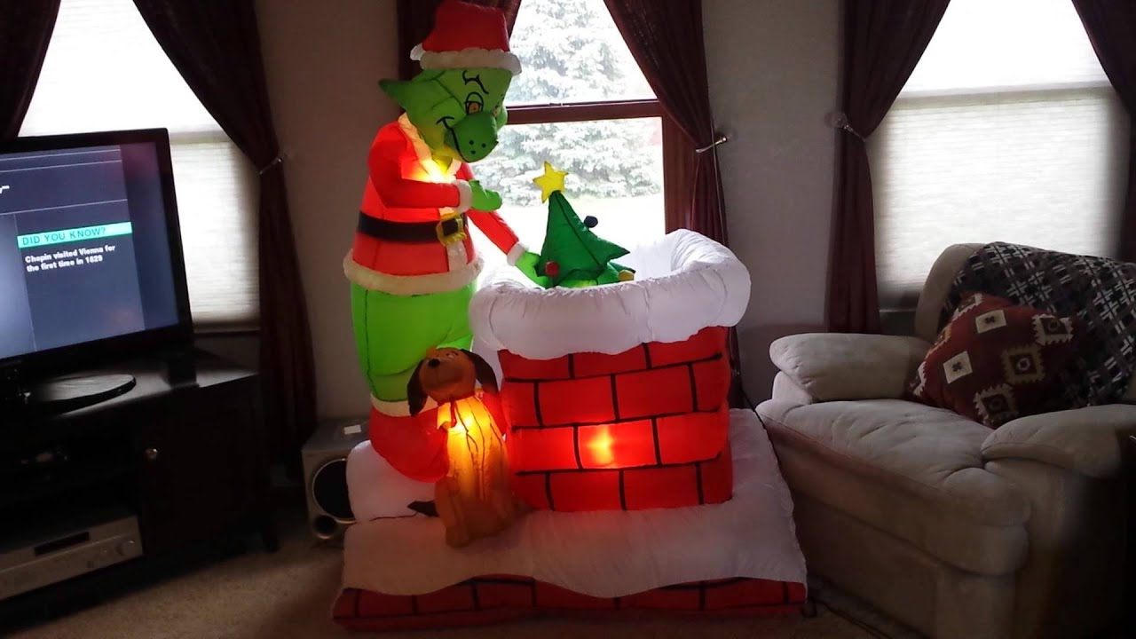 grinch inflatable - Blow Up Christmas Decorations Grinch