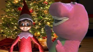 Elf On The Shelf Vs Barney The Dinosaur