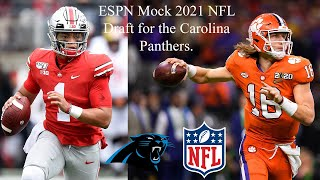 ESPN Mock 2021 NFL Draft for the Carolina Panthers